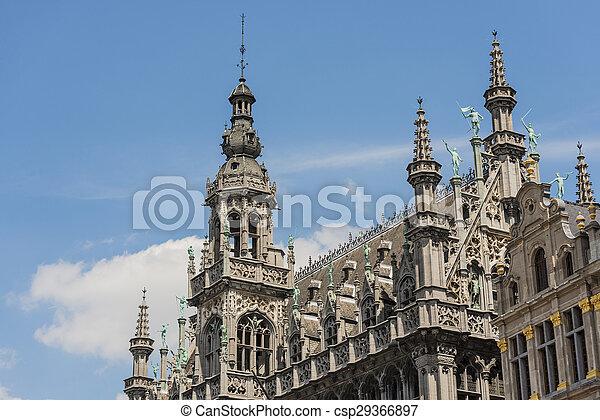 Maison du roi in brussels, belgium - csp29366897
