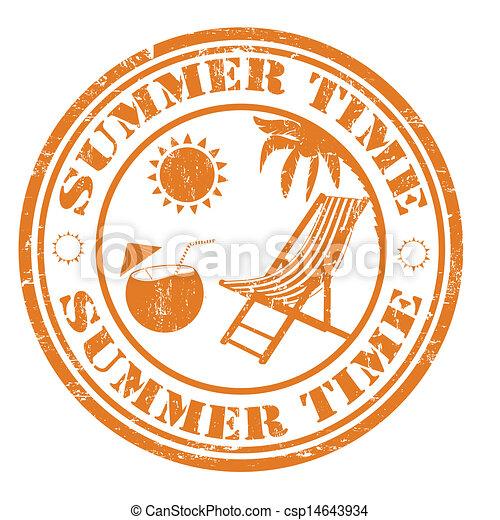 bélyeg, nyár időmérés - csp14643934
