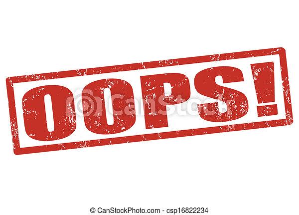bélyeg, oops! - csp16822234