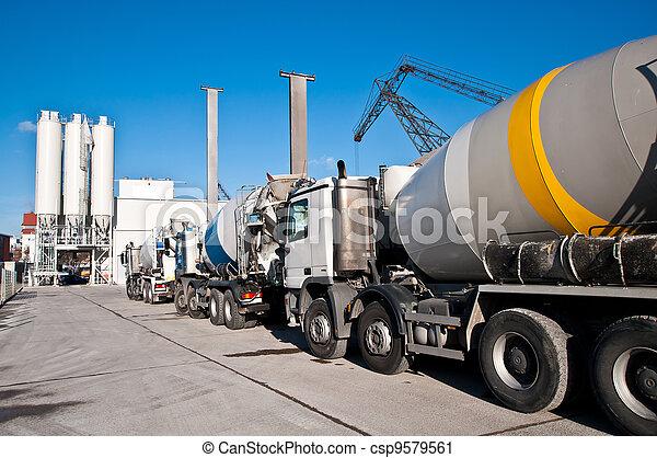béton, camions - csp9579561