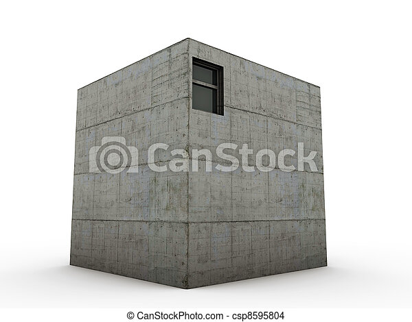b ton cube maison cube maison isol b ton fond. Black Bedroom Furniture Sets. Home Design Ideas