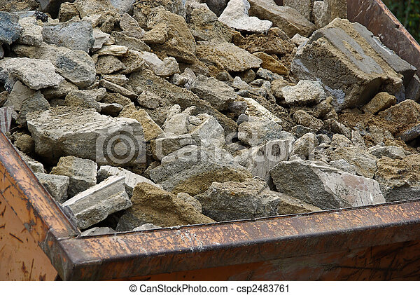 béton, déchets, 03 - csp2483761