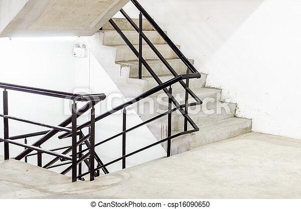 béton, escalier - csp16090650