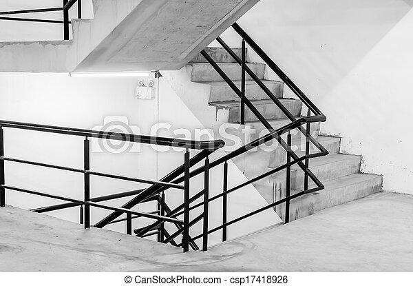 béton, escalier - csp17418926