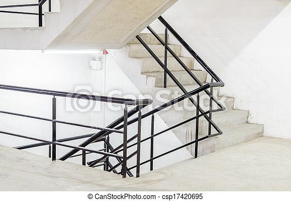 béton, escalier - csp17420695