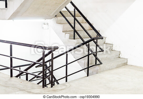 béton, escalier - csp19304990