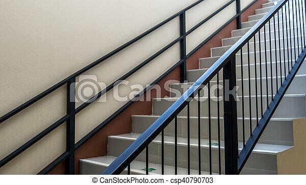 béton, fer, escalier, balustrade - csp40790703