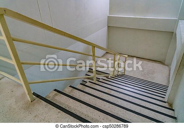 béton, fer, escalier, balustrade - csp50286789