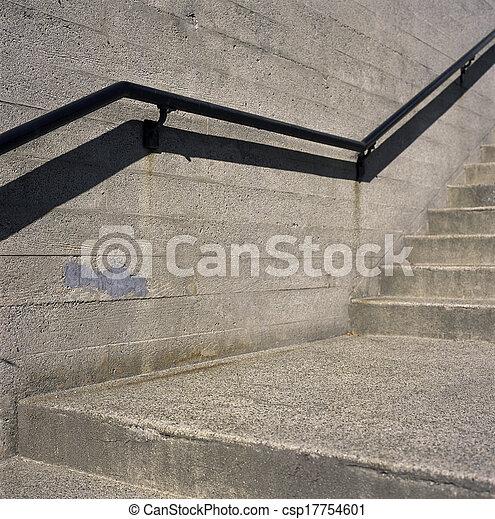 béton, grille, étapes, fer - csp17754601