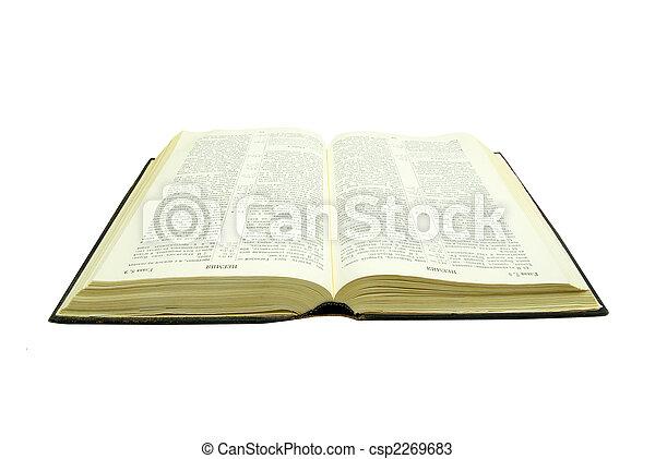 bíblia, aberta - csp2269683