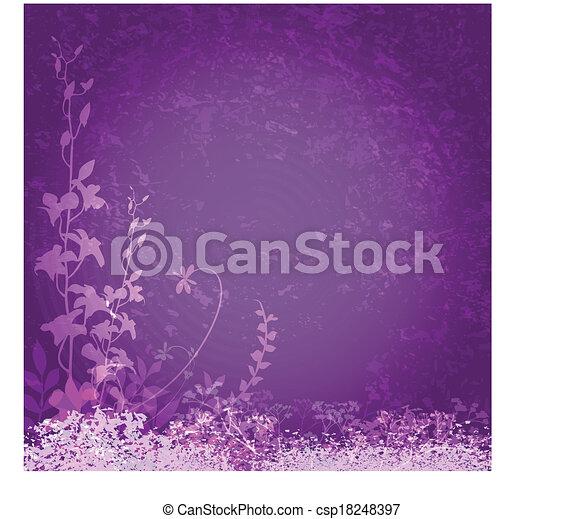 bíbor virág, háttér - csp18248397