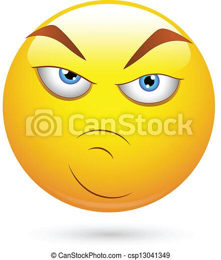 Wütende Einstellung, Smiley - csp13041349