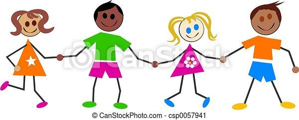 børn, colourful - csp0057941