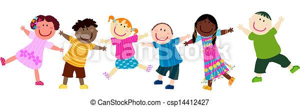 børn, glade - csp14412427