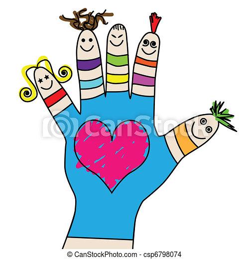 børn, hånd - csp6798074