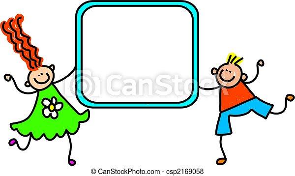 børn, tegn - csp2169058