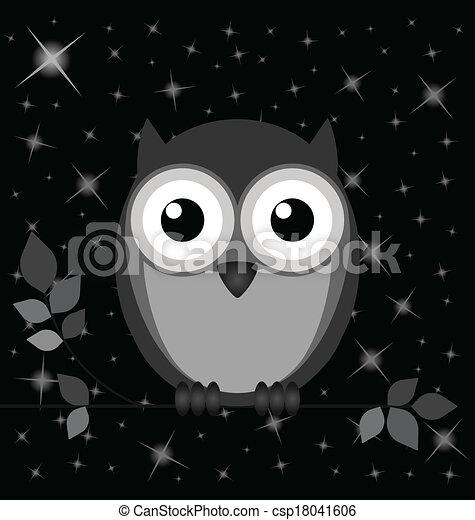 Buho Nocturno - csp18041606