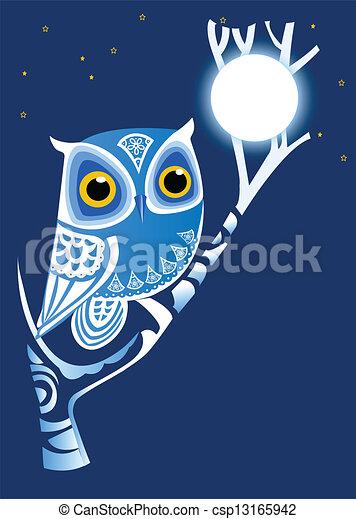 Buho nocturno - csp13165942