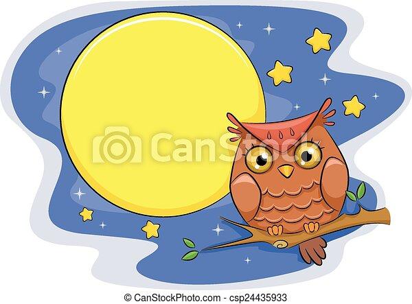 Buho Nocturno - csp24435933