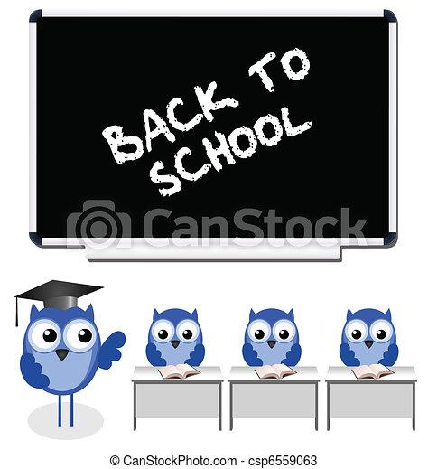 búho, profesor, alumnos - csp6559063