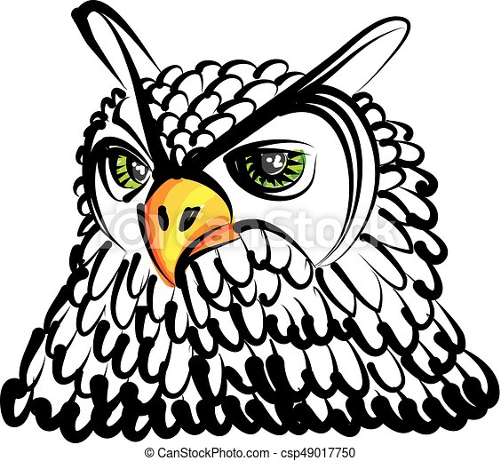Búho Vector Dibujo Ilustración