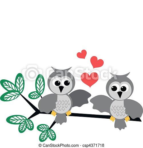 Mochuelos enamorados - csp4371718
