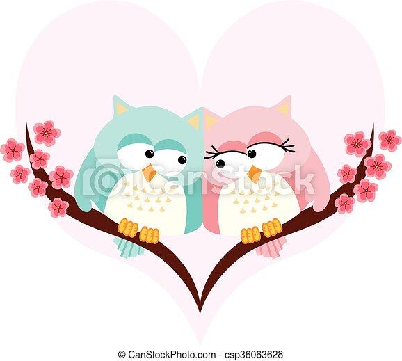 Una pareja enamorada de fondo - csp36063628