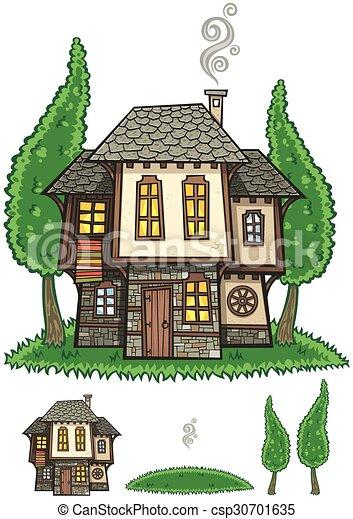 Una casa tradicional bulgariana - csp30701635