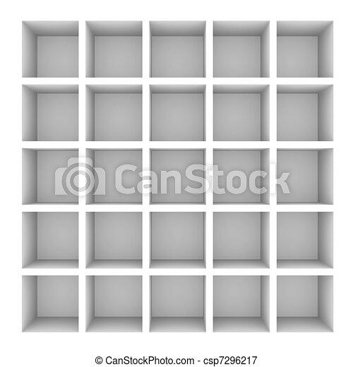 Weisses Bücherregal bücherregal weißes freigestellt leerer white image stock