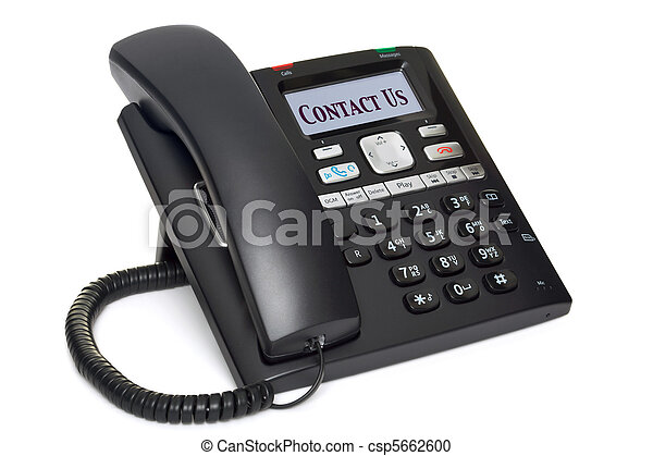 büro- telefon, uns, freigestellt, kontakt, weißes - csp5662600
