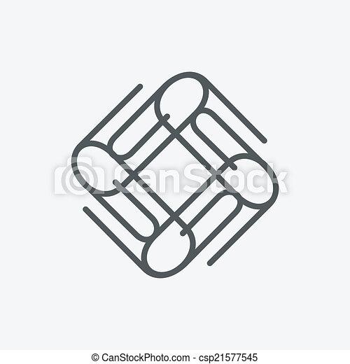 Buroklammer Ikone Eps Vektor Suche Clipart Illustration