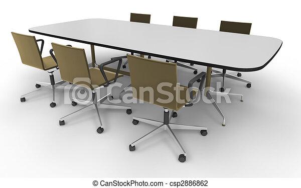 Büromöbel. Buero, aus, -, freigestellt, hintergrund, weißes ...