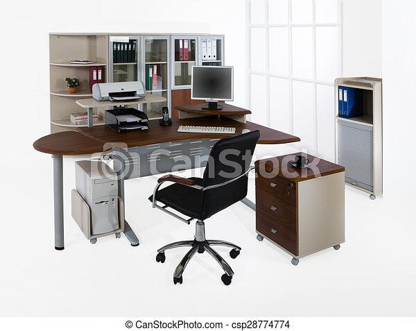 Weißer hintergrund, büromöbel Stock Illustrationen - Suche EPS ...
