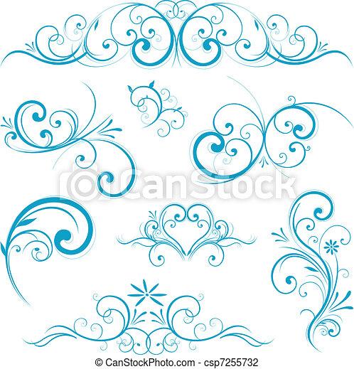 błękitna forma, woluta - csp7255732