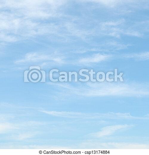 błękitne niebo, chmury, lekki - csp13174884