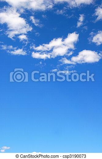 błękitne niebo, pochmurny - csp3190073