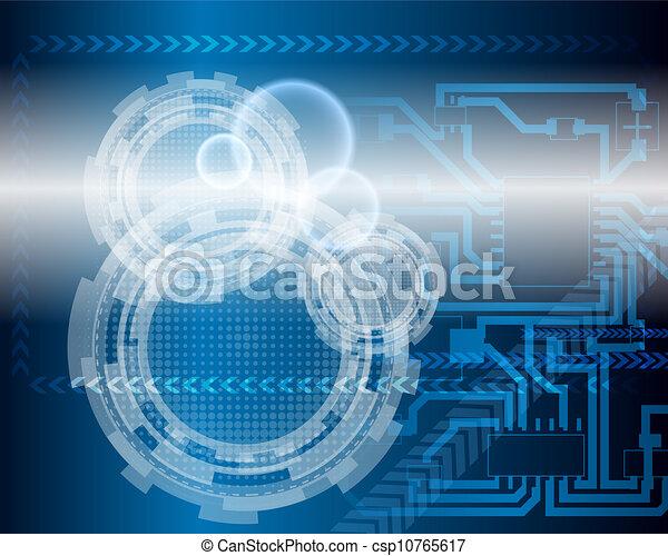 błękitne tło, techniczny - csp10765617