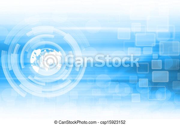 błękitny, abstrakcyjny, technologia, tło - csp15923152