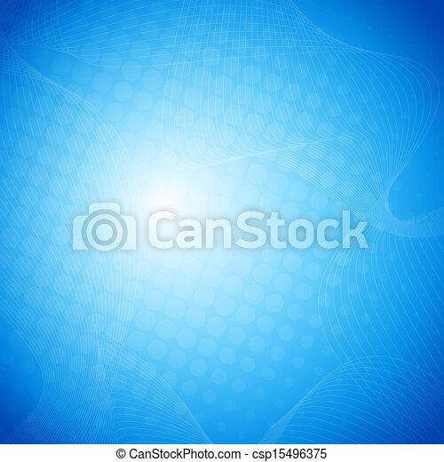 błękitny, abstrakcyjny, wektor, tło - csp15496375