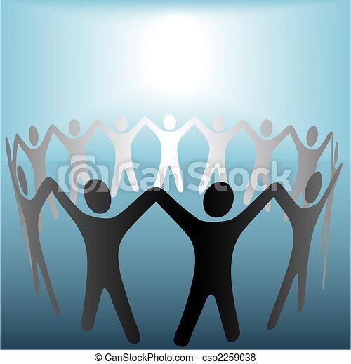 błękitny, copyspace, ludzie, siła robocza, miejscowość, jasny, pod, koło, utrzymywać - csp2259038