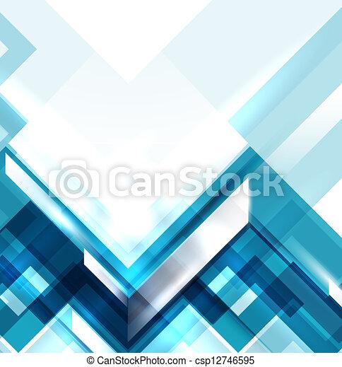 błękitny, geometryczny, nowoczesny, abstrakcyjny, tło - csp12746595