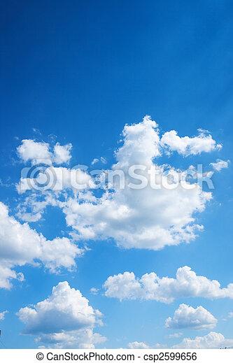 błękitny, jasne niebo, barwny, tło - csp2599656
