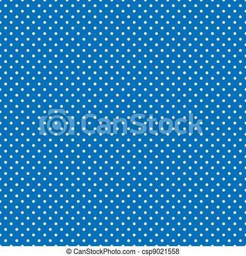 błękitny, jasny, polka, seamless, kropkuje - csp9021558