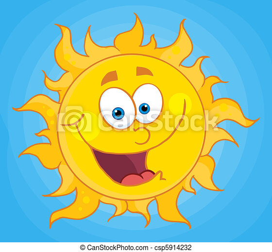 błękitny, nachylenie, niebo, słońce - csp5914232