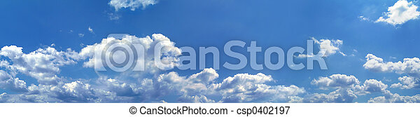błękitny, panorama, niebo - csp0402197