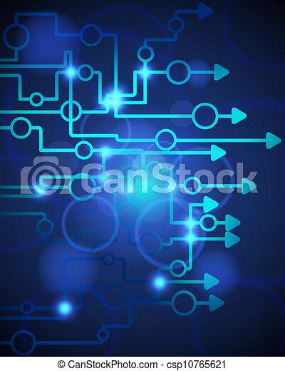 błękitny, techniczny, tło - csp10765621