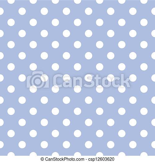 błękitny, wektor, kropka polki, tło - csp12603620