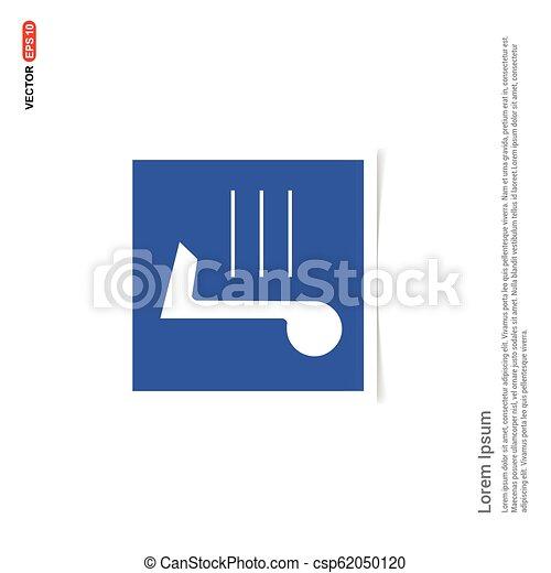 błękitny, zdejmować budowę, -, nuta, muzyka, ikona - csp62050120