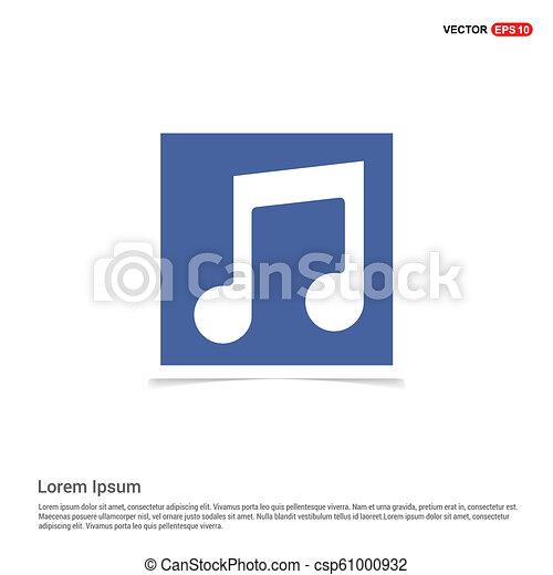 błękitny, zdejmować budowę, -, nuta, muzyka, ikona - csp61000932