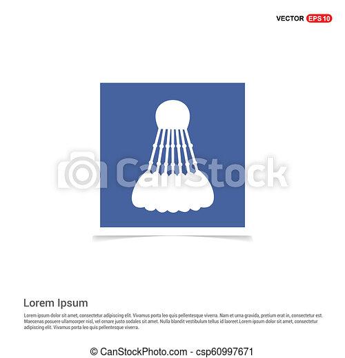 błękitny, zdejmować budowę, -, wolant, ikona - csp60997671